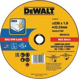 Круг отрезной DeWALT INOX 230х1.9х22.23 мм по металлу (DT43909)