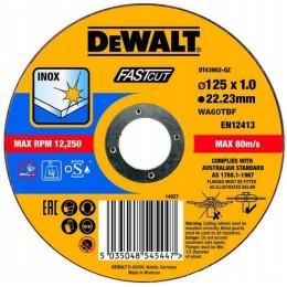 Круг отрезной DeWALT INOX FASTCUT 125х1.0х22.23 мм по металлу (DT43902)