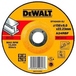 Круг шлифовальный DeWALT 150х6х22.23 мм. по металлу (DT42420), , 112.00 грн, Круг шлифовальный DeWALT 150х6х22.23 мм. по металлу (DT42420), Dewalt, Круги абразивные отрезные