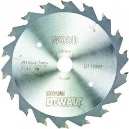 Диск пильный DeWALT 165х20мм 18 зубов (быстрый рез для DWS520K) (DT1089)