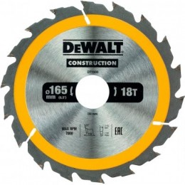 Диск пильный DeWALT 165х30мм 18 зубов (DT1936) 338.00 грн