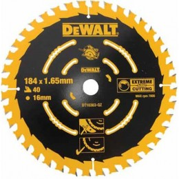 Диск пильный DeWALT 184x16мм 40 зубов (чистый рез для DWE560) (DT10303) 689.00 грн