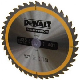 Диск пильный DeWALT 235х30мм 40 зубов (DT1955)