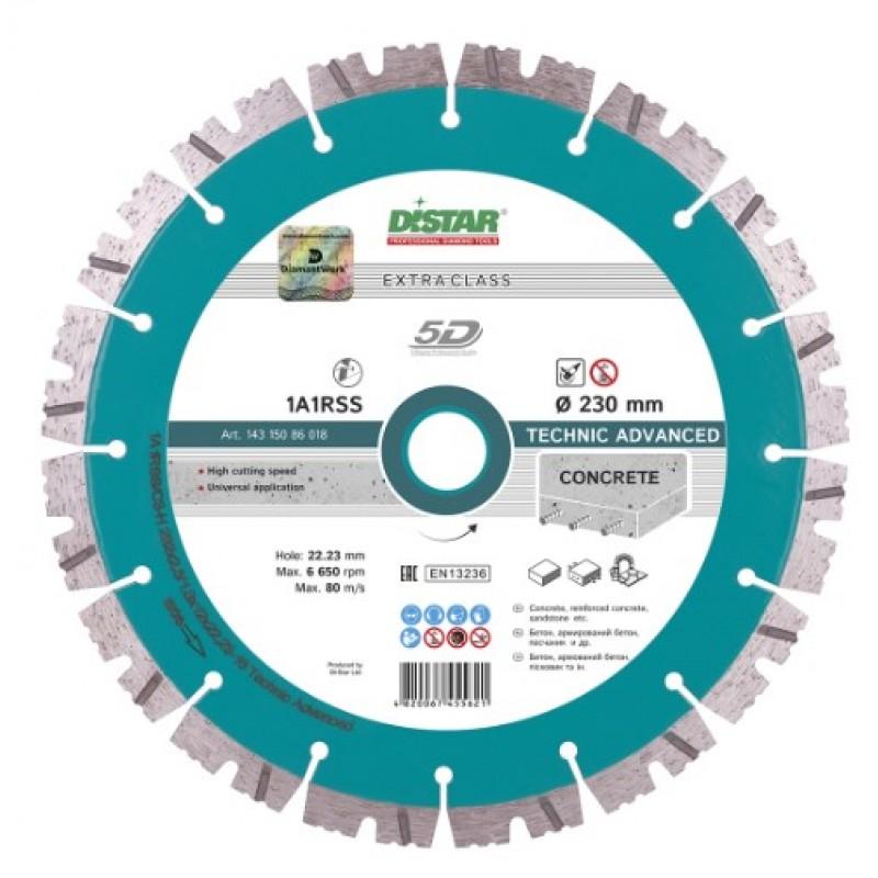 Алмазный диск Distar 1A1RSS/C3-H 232x2,6/1,8x12x22,23-16 Technic Advanced (14315086018) 960.00 грн