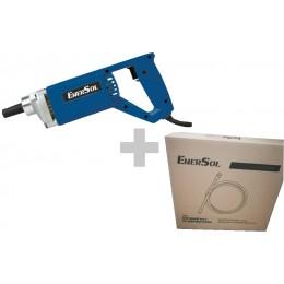 Вибратор для бетона EnerSol ECV-800W + Гибкий вал и вибробулава EVS-35-150-800
