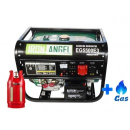 Трехфазный гибридный генератор Iron Angel EG 5500 E3 LPG, , 18129.02 грн, Трехфазный гибридный генератор Iron Angel EG 5500 E3 LPG, Iron Angel, Генераторы, стабилизаторы