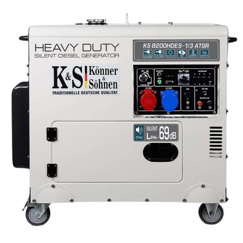 Дизельный генератор Konner&Sohnen KS 8200HDES-1/3 ATSR 51215.00 грн