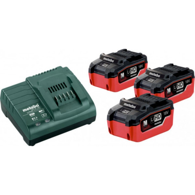 Базовый комплект Metabo Li-HD 18 В 5.5 Ач 3 шт +ASC 30-36 В (685074000) 15463.00 грн