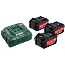 Базовый комплект Metabo Li-Power 18 В 5.2 Ач 3 шт +ASC 30-36 В (685048000)