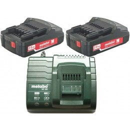 Набор Metabo SET 2 x Li-Ion 2,0 Ah 18В (685161000), , 4570.00 грн, Набор Metabo SET 2 x Li-Ion 2,0 Ah 18В (685161000), Metabo, Аккумуляторы метабо