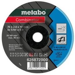 Отрезной круг Metabo Combinator Inox 76 мм, 3 шт. вогнутый (626872000)