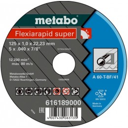 Диск отрезной Metabo Flexiamant super 125x1,0х22,2 мм A 60-T (616189000)