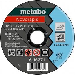 Диск отрезной Metabo Novorapid 125x1,0x22,2 мм A46-T (616271000)