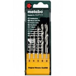 Набор сверл по дереву Metabo CV, DIN 3126 (627111000), , 410.00 грн, Набор сверл по дереву Metabo CV, DIN 3126 (627111000), Metabo, Наборы сверл