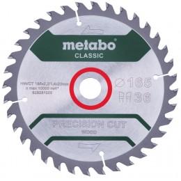 Пильный диск Metabo PrecisionCutClassic 190x30 48WZ 15 град. (628283000)