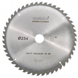 Пильный диск Metabo PrecisionCutClassic 254x30 48WZ 5 град. /B (628656000), , 600.00 грн, Пильный диск Metabo PrecisionCutClassic 254x30 48WZ 5 град. /B (, Metabo, Диски пильные