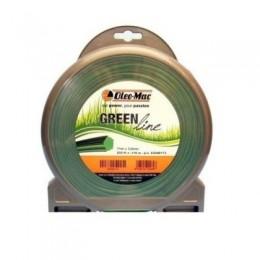 Косильная леска Oleo-Mac GREENLINE (2х15 м) (63040267), , 62.70 грн, Косильная леска Oleo-Mac GREENLINE (2х15 м) (63040267), Oleo-Mac, Леска