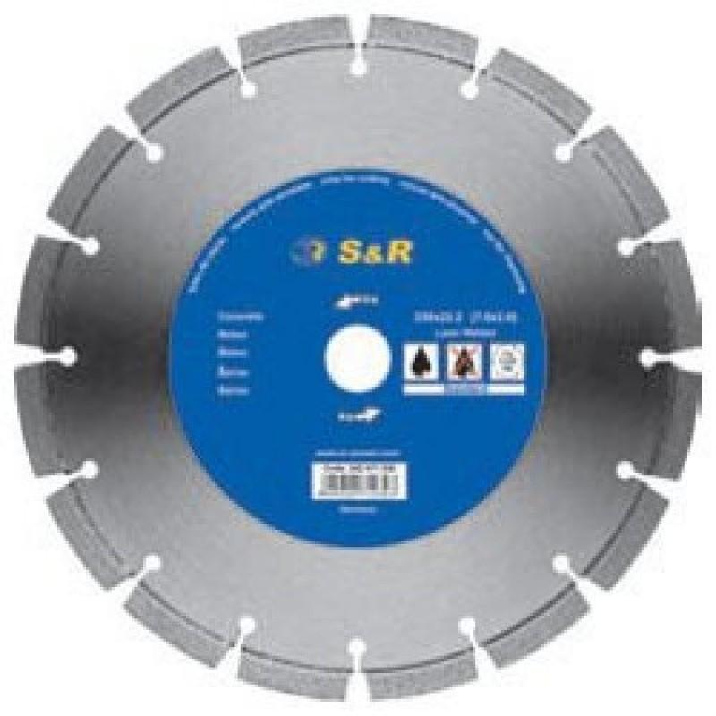 Диск отрезной сегментный S&R по бетону Standart 450