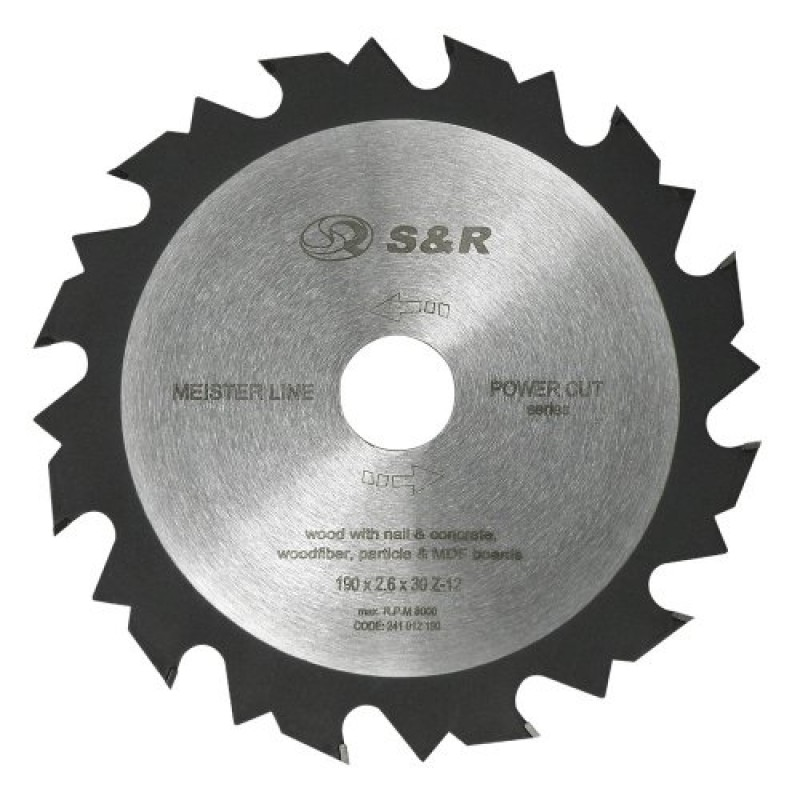 Диск пильный S&R Meister Power Cut 190x30x2,6 мм 202.00 грн
