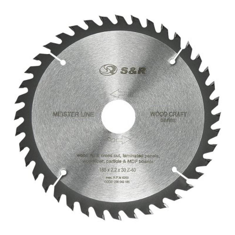 Диск пильный S&R Meister Wood Craft 185x30/16/20x2,2 мм 283.00 грн