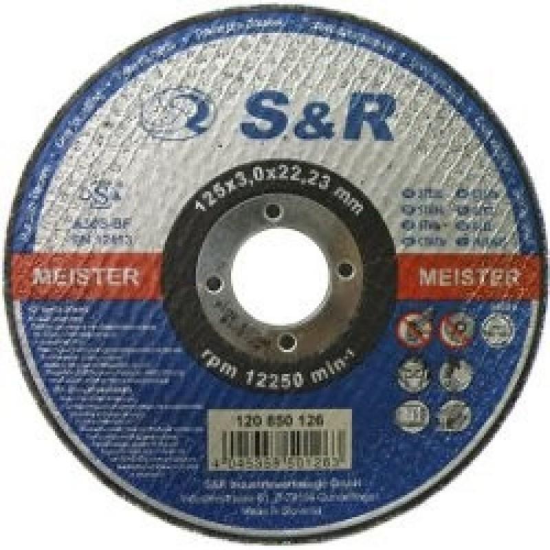 Круг отрезной по металлу S&R Meister типа A 60 S-BF Slim 125 22.00 грн