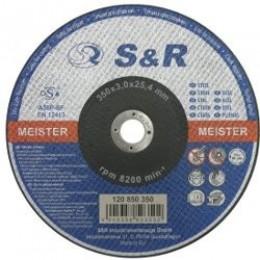 Круг отрезной по металлу S&R Standard типа A36P-BF 350, , 121.00 грн, Круг отрезной по металлу S&R Standard типа A36P-BF 350, S&R Power, Круги абразивные отрезные