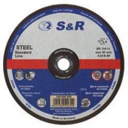 Круг отрезной по металлу S&R Supreme типа A 24 R 180, , 22.00 грн, Круг отрезной по металлу S&R Supreme типа A 24 R 180, S&R Power, Круги абразивные отрезные