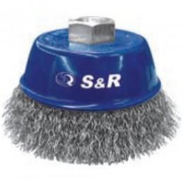 Щетка чашечная конусная S&R, стальная витая проволока 60, , 105.00 грн, Щетка чашечная конусная S&R, стальная витая проволока 60, S&R Power, Щетки проволочные