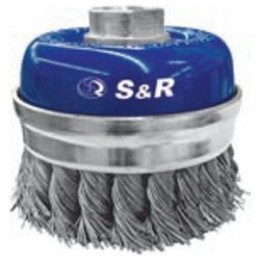 Щетка чашечная прямая S&R, нержавеющая плетенная проволока 65, , 336.00 грн, Щетка чашечная прямая S&R, нержавеющая плетенная проволока 65, S&R Power, Расходные материаллы
