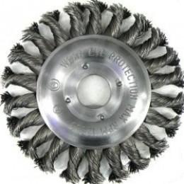 Щетка дисковая S&R, стальная плетеная проволока 125, , 224.00 грн, Щетка дисковая S&R, стальная плетеная проволока 125, S&R Power, Щетки проволочные