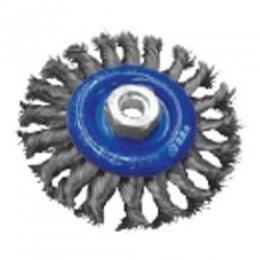 Щетка дисковая S&R, стальная плетенная проволока 125, , 222.00 грн, Щетка дисковая S&R, стальная плетенная проволока 125, S&R Power, Щетки проволочные