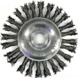 Щетка дисковая S&R, закаленная плетенная проволока 150, , 167.00 грн, Щетка дисковая S&R, закаленная плетенная проволока 150, S&R Power, Щетки проволочные