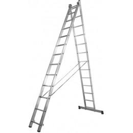 Алюминиевая двухсекционная усиленная лестница Stark 2*15 SVHR2x15pro (525215410)