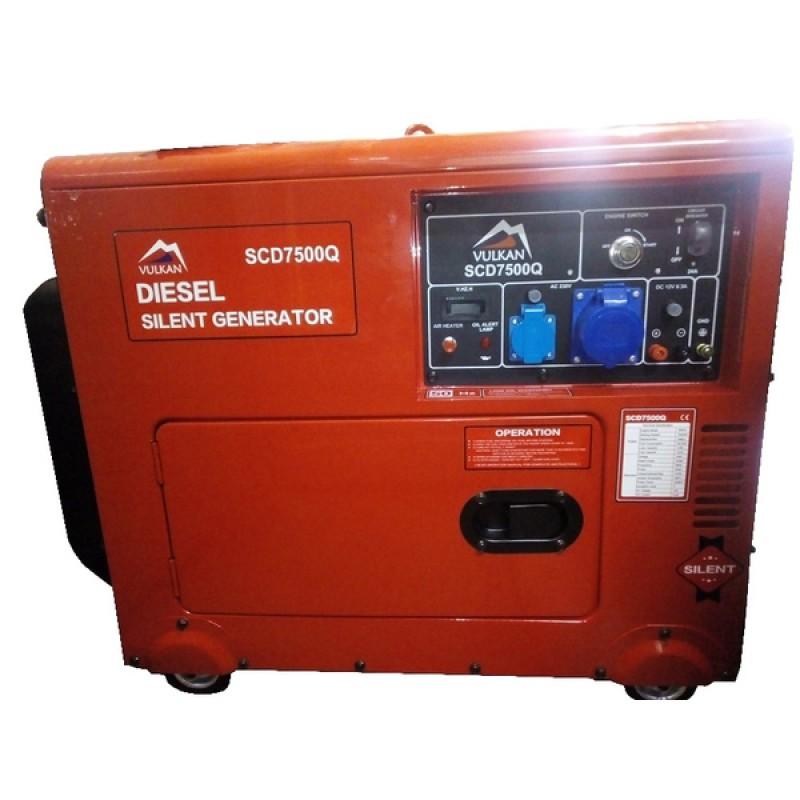 Дизельный генератор Vulkan SCD7500Q (34248) 36223.00 грн