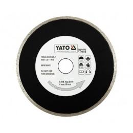 Диск алмазный YATO сплошной 200х8,0x25,4 мм (YT-6017)