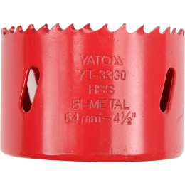 Коронка по металлу Yato HSS х57 мм (YT-3327), , 116.00 грн, Коронка по металлу Yato HSS х57 мм (YT-3327), Yato, Коронки