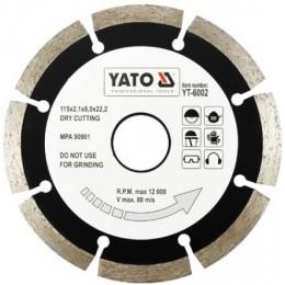 Диск алмазный YATO сегмент 115x8,0x22,2 мм (YT-6002)