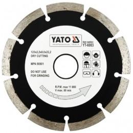 Диск алмазный YATO сегмент 125x8.0x22,2 мм (YT-6003)