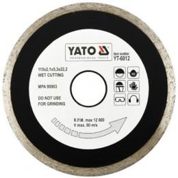 Диск алмазный YATO сплошной 115x5,3x22,2 мм для мокрой резки (YT-6012)
