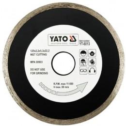 Диск алмазный YATO сплошной 125x5,3x22,2 мм для мокрой резки (YT-6013)