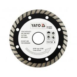 Диск алмазный YATO турбо 115x8,0x22,2 мм (YT-6022)