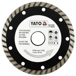 Диск алмазный YATO турбо 125x8,0x22,2 мм (YT-6023)