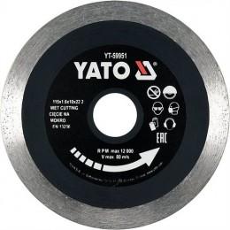 Диск отрезной Yato 115х1.6х10х22.2 мм (YT-59951)