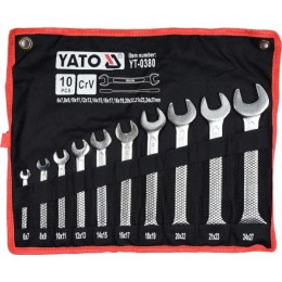 Набор рожковых ключей Yato YT-0380, , 887.00 грн, Набор рожковых ключей Yato YT-0380, Yato, Наборы ключей