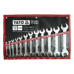 Набор рожковых ключей Yato YT-0381, , 1319.00 грн, Набор рожковых ключей Yato YT-0381, Yato, Наборы ключей