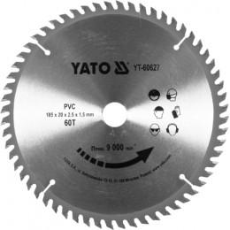 Диск пильный Yato 185х2.5x20 мм, 60 зубьев (YT-60627), , 281.00 грн, Диск пильный Yato 185х2.5x20 мм, 60 зубьев (YT-60627), Yato, Диски пильные