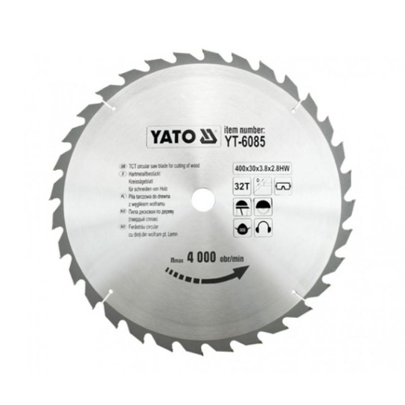 Диск пильный Yato 400х30x3.8x2.8 мм, 32 зубьев (YT-6085) 1256.00 грн