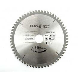 Диск пильный YATO по алюминию 200х30х3.0х2.2 мм, 60 зубцов (YT-6091), , 534.00 грн, Диск пильный YATO по алюминию 200х30х3.0х2.2 мм, 60 зубцов (YT-6, Yato, Диски пильные