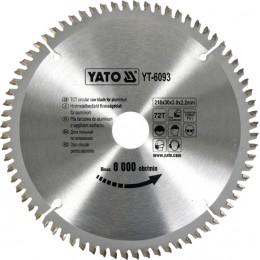 Диск пильный YATO по алюминию 210х30х3.0x2.2 мм, 72 зубца (YT-6093), , 599.00 грн, Диск пильный YATO по алюминию 210х30х3.0x2.2 мм, 72 зубца (YT-60, Yato, Диски пильные