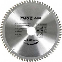 Диск пильный YATO по алюминию 350х30х3.2x2.5 мм, 100 зубцов (YT-6099), , 1325.00 грн, Диск пильный YATO по алюминию 350х30х3.2x2.5 мм, 100 зубцов (YT-, Yato, Диски пильные